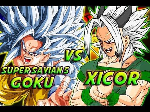dragonball z what if battle super saiyan 5 goku vs xicor youtube