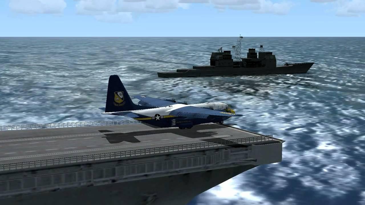 C 17 On Aircraft Carrier FSX-DDDD-Episode 6-C-1...