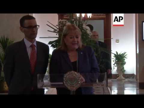 Argentine FM meets Arab League Chief