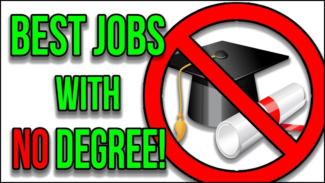 Best Paying Jobs WITHOUT a Degree