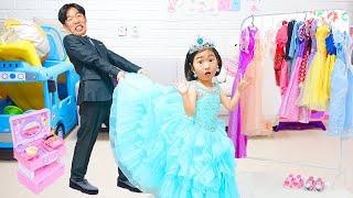 بو لام سوف أذهب إلى  ارتداء فستان الأميرة الحفلة مع الأصدقاء !!