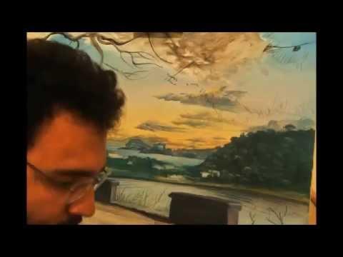 Phlegraean Fields timelapse painting