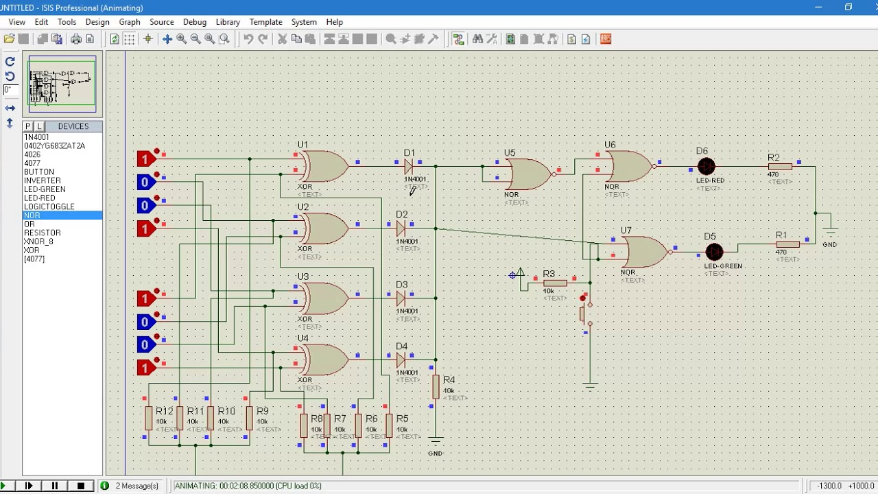 hight resolution of password secuirty logic circuit project