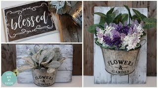 FARMHOUSE DOLLAR TREE DIY | SPRING HOME DECOR | PALLET GALVANIZED | RUSTIC | MAKE IT YOUR OWN MONDAY