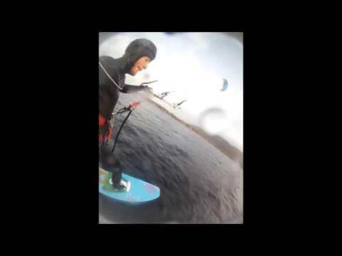 DIY hydrofoil kiteboard - 9th session
