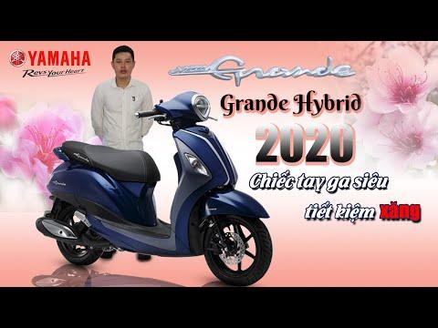Review đánh giá Yamaha Grande Hybrid 2020 siêu tiết kiệm xăng.