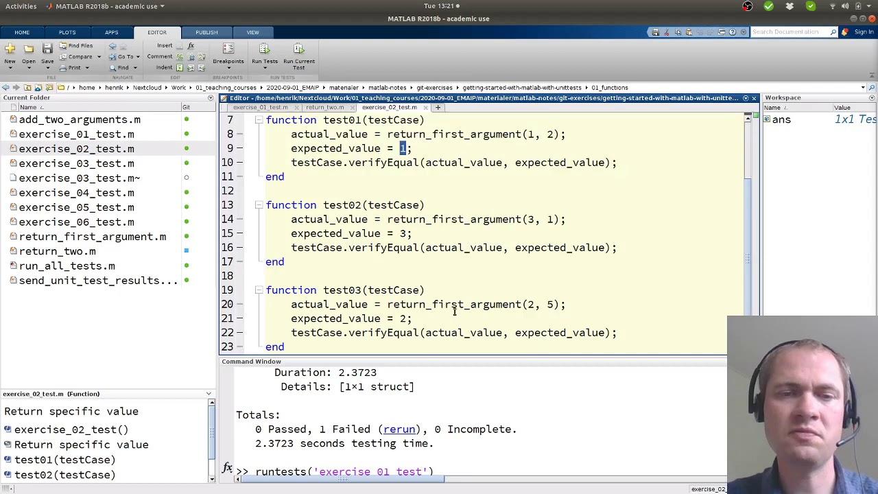 Matlab  - Automatisk test af funktioner