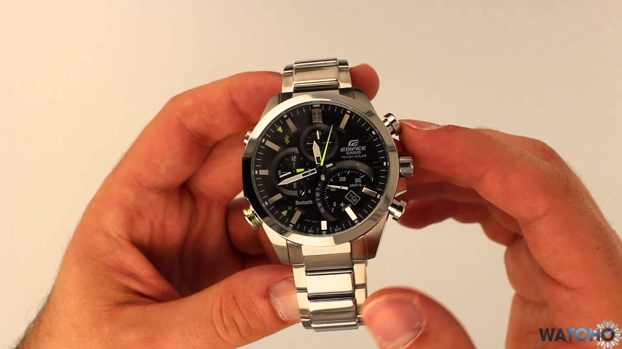 WatchO.co.uk - Casio Edifice Bluetooth Solar Chronograph Watch EQB .