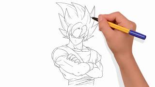 How to Draw Goku in Easy Steps