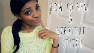 SEWING SERIES | Beginners Sewing Course: How To Sew A Straight Stitch!