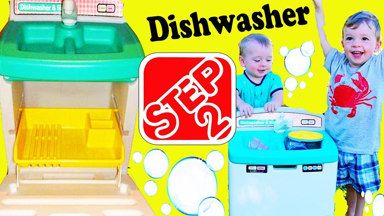 giant play kitchen dishwasher toy! step 2 pretend play learn baby