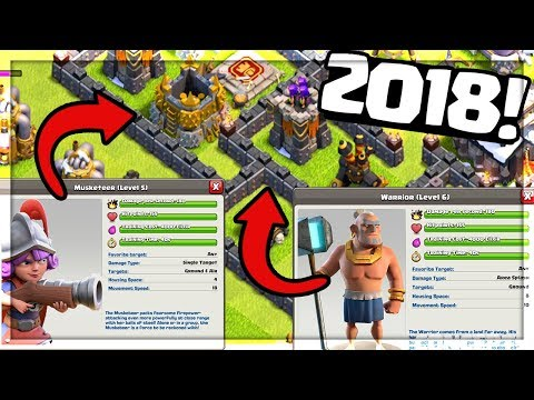 Clash of Clans UPDATE / NEW TROOP Concepts for 2018!