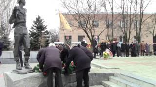 Артемовск, митинг у памятника воинам-афганцам