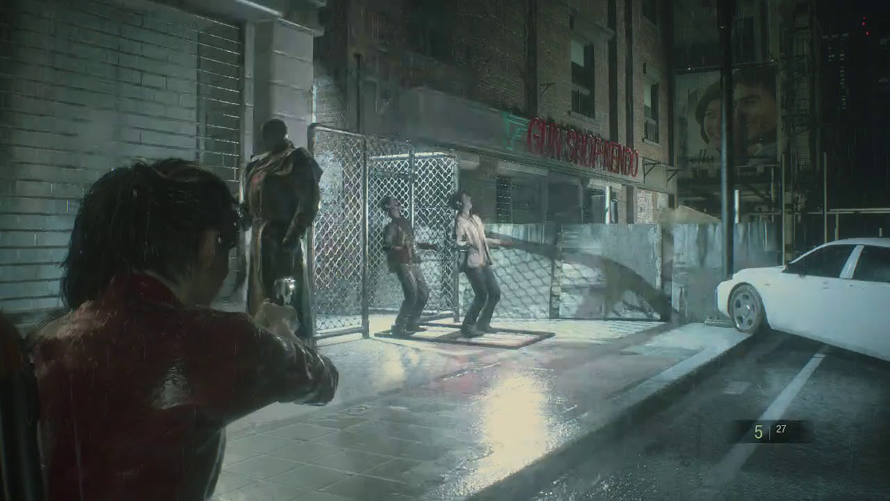 Resident Evil 2 Use Car Park Garage Key Card Get Past Zombies And Gate