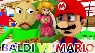 BALDI'S BASICS VS MARIO (Official) Baldi Minecraft Animation Horror Game