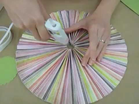 crankin out crafts ep127 accordion circle hanging decoration youtube