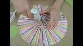 Crankin' Out Crafts -ep127 Accordion Circle Hanging Decoration