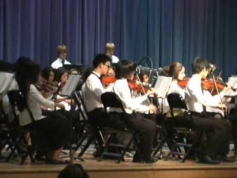 Charmaine de Castro 4 with Earl Warren Middle School Orchestra