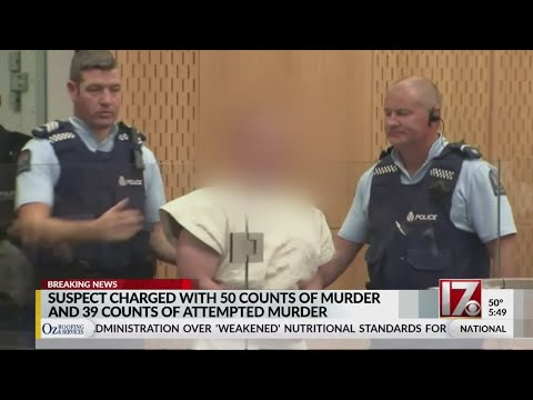 New Zealand mosque shooting suspect officially charged