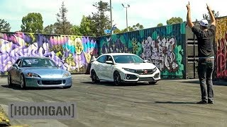 [HOONIGAN] DT 095: 2018 Civic Type R vs S2000 with Alexander Rossi #SPACERACE