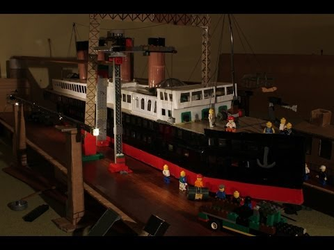 Giant ship model Lego