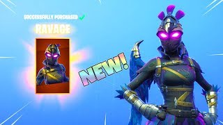 *NEW* RAVAGE SKIN! (FREE CONTRAIL with it. New Item Shop Update) Fortnite Battle Royale