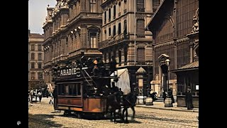 [4k, 50fps, Colorized] (1895-1896) Scenes Of Lyon, France. Lumiere Brothers.(II)