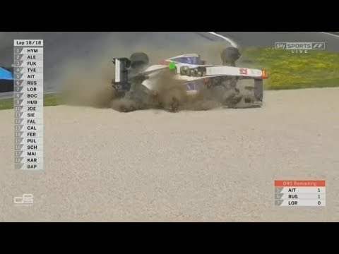 GP3 Series 2017. Race 2 Red Bull Ring. Dorian Boccolacci Crash Rolls