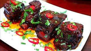 Slow Cooked Beef Short Ribs Recipe - Copy Cat Gordon Ramsay's Fall off the bone Ribs