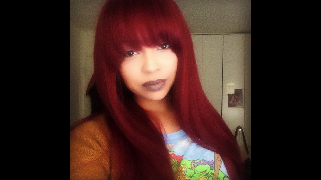 evawigscom full lace wig with bangs 99j youtube