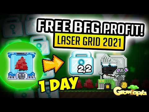 LASERGRID FREE BFG PROFIT IN 2021 🤑 220WLS A DAY 🤑 GROWTOPIA PROFIT