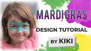 Mardi Gras Face Painting Tutorial