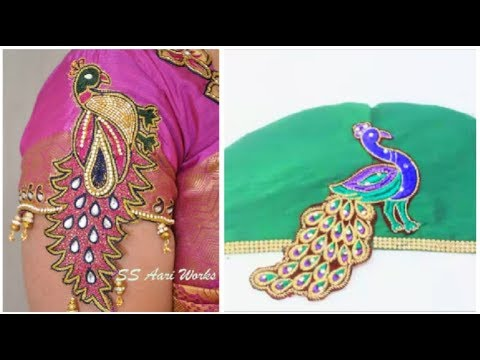 Image result for Hand made designer sleeves same like aari work