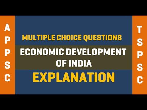 Economic Development of India  MCQ - APPSC - TSPSC