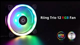 Thermaltake Riing Trio 12 LED RGB Radiator Fan TT Premium Edition