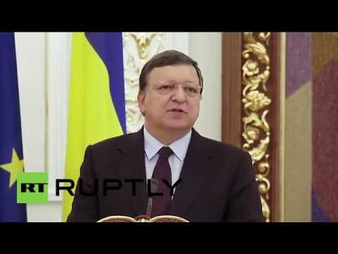 "Ukraine: ""Current ceasefire does not guarantee peace,"" warns Barroso"