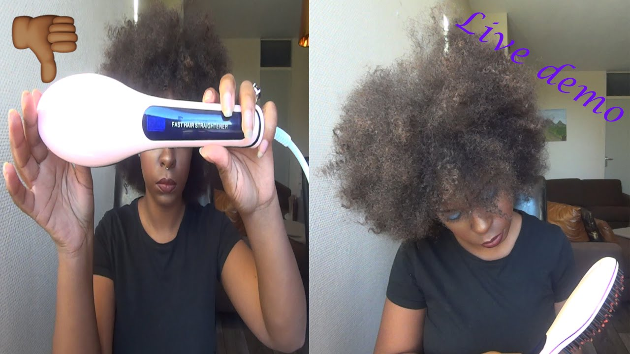 Brush Straightener Review Natural Hair  YouTube