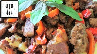Жареная печень с луком и болгарским перцем. Как вкусно пожарить печень / Ciger kavurmasi