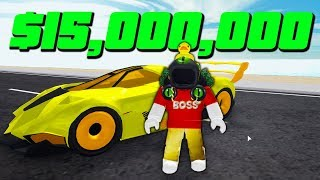 SPENDING 15 MILLION on BEST SUPERCAR in VEHICLE SIMULATOR! (Roblox)