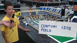 LEGO CenturyLink Field Seattle Seahawks stadium – Brickworld Chicago 2015