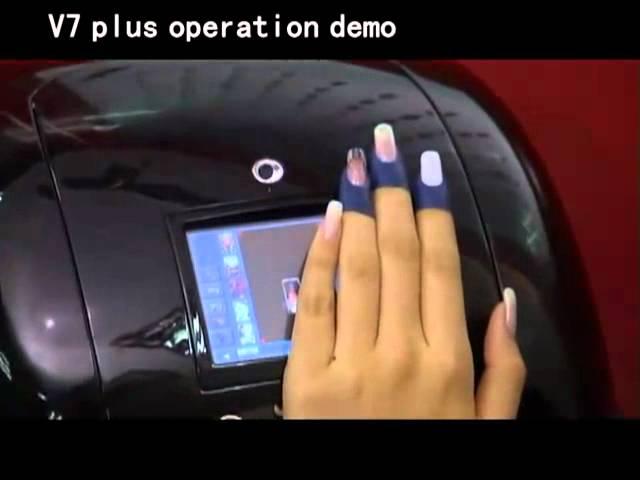 Impresora De Uñas V7 Demonstration Impresion Uñas Naturales Youtube