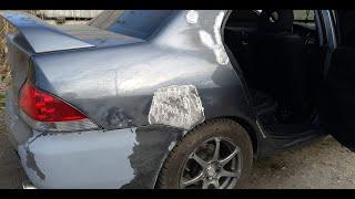 Ланцер 9 ремонт кузова и окраска в Днепре! Украина! Mitsubishi Lancer IX Auto body repair.