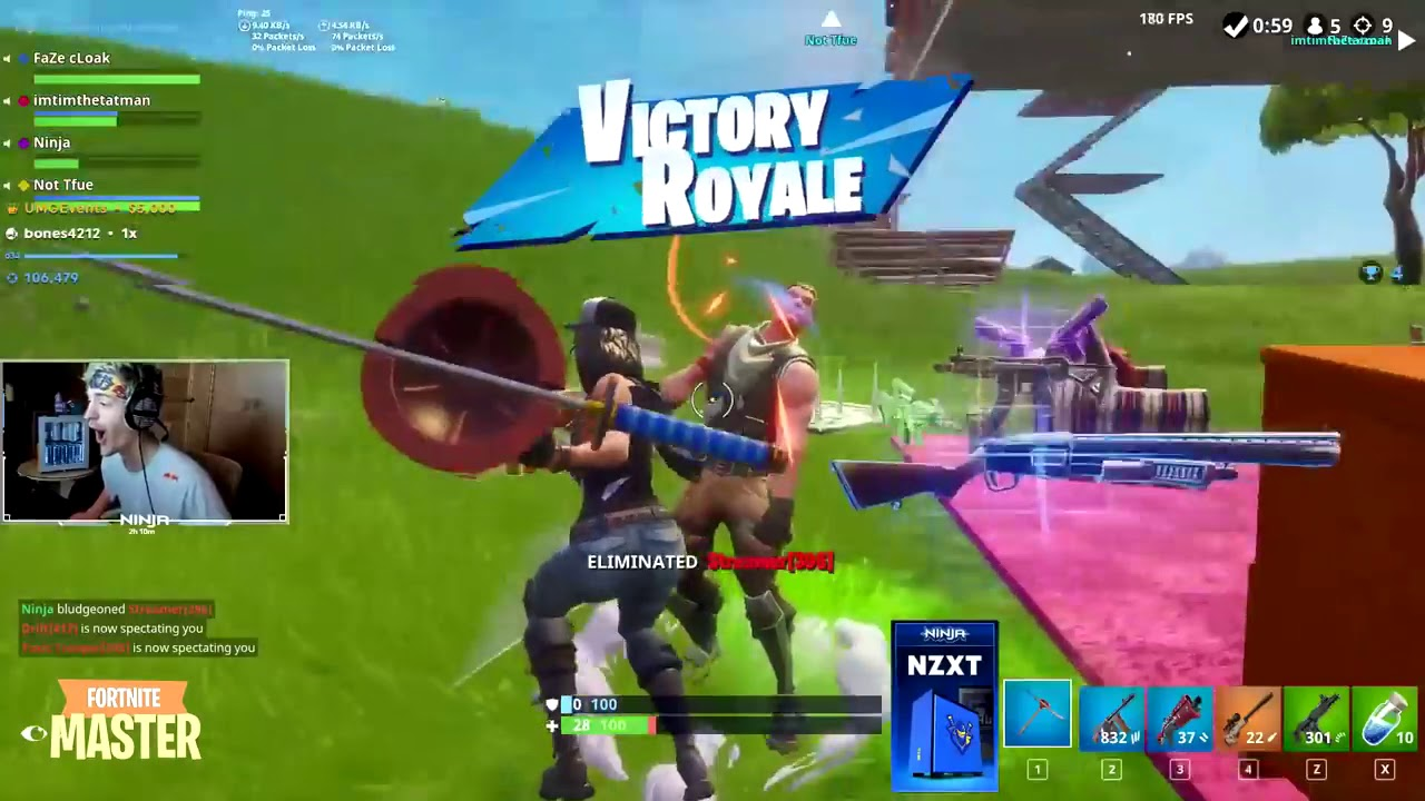 Fortnite Master Ninja and Tfue Ran Into an Actual BOT! - Fortnite Best and  Funny Moments