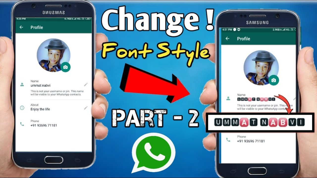 How To Change Own Username Font Style On Whatsapp Youtube