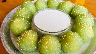 CÁCH LÀM BÁNH BỘT BÁNG ĂN VỚI NƯỚC CỐT DỪA -Tapioca pearl cake