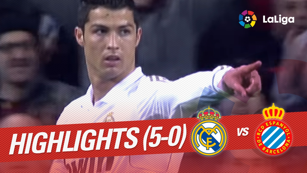 Resumen De Real Madrid Vs Rcd Espanyol 5 0 2011 2012