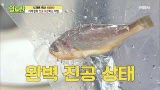 ※대박※ 기계없이 생물 생선 진공 포장이 가능하다고??