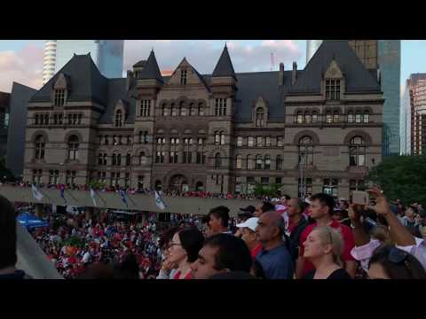 2017 150th Canada Day at Nathan Phillips Square, Toronto 4K