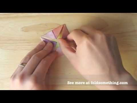 How to make an origami lotus flower with one sheet of paper