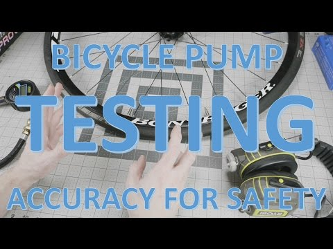 Bike pump accuracy testing helps prevent crashes in the rain